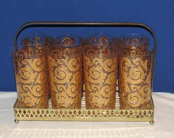 CULVER IBERIA GLASSES and Carrier 22k Gold Detail