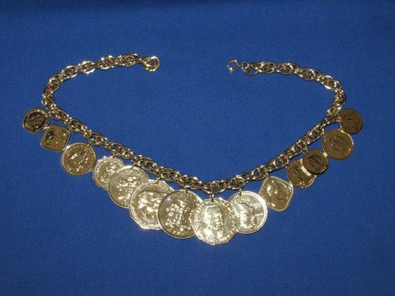 Franklin Mint GOLDEN CARIBBEAN NECKLACE 1989 Free