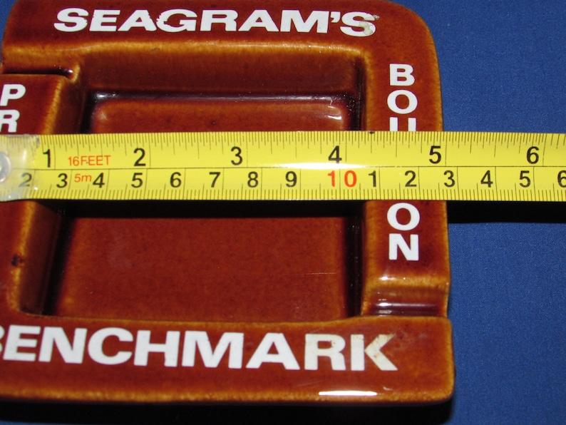 SEAGRAM\u2019S BENCHMARK ASHTRAY Premium Bourbon Vintage Advertising Seagrams