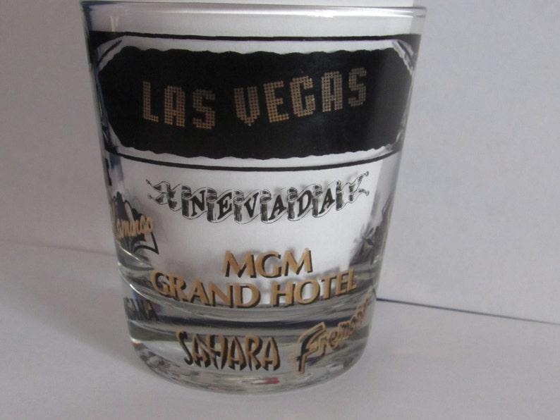 LAS VEGAS GLASS Vintage Vegas Souvenir Cocktail Glass Vintage