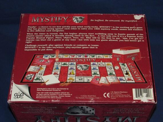 Mystify Game 1997 Ravensburger Game Development Group Etsy