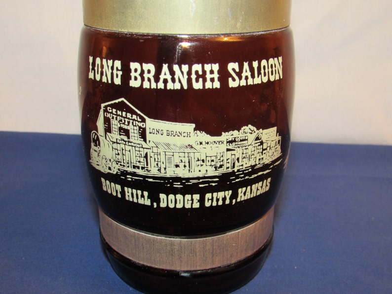 SIESTA WARE MUG Long Branch Saloon Dodge City Kansas Siestaware Vintage
