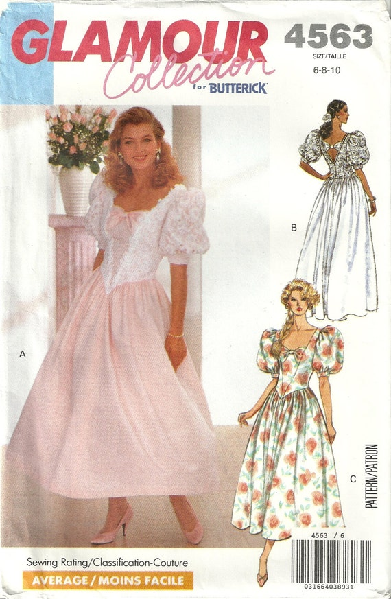 7f9a1d0e70 Butterick 4563 Vintage Formal Gown Wedding Dress Bridesmaid