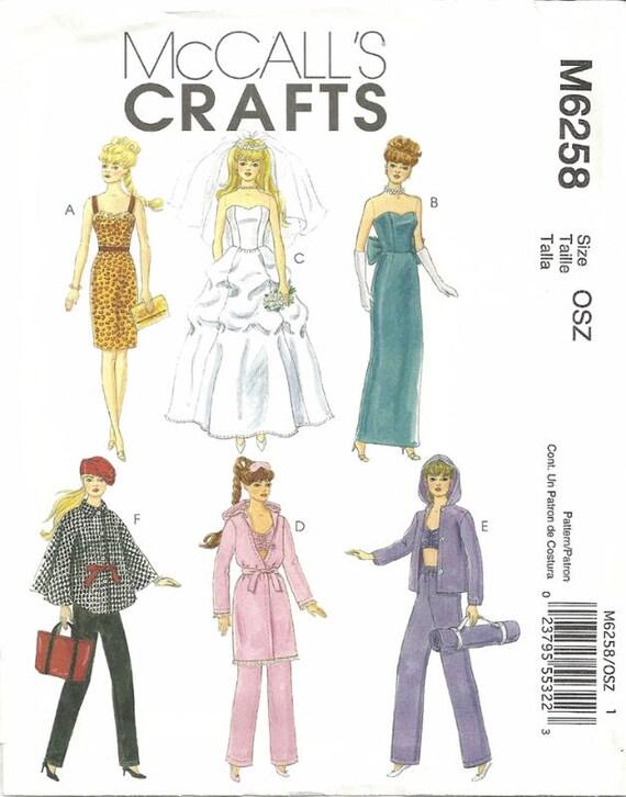 McCalls 6258 Barbie-Puppe Kleidung Nähen Muster Cape   Etsy