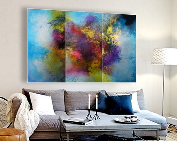XXLarge abstract painting by Alex Senchenko. Contemporary ART. Modern, original, wall art.   100% Hand-Made.  LOOKS STUNNINGLY.