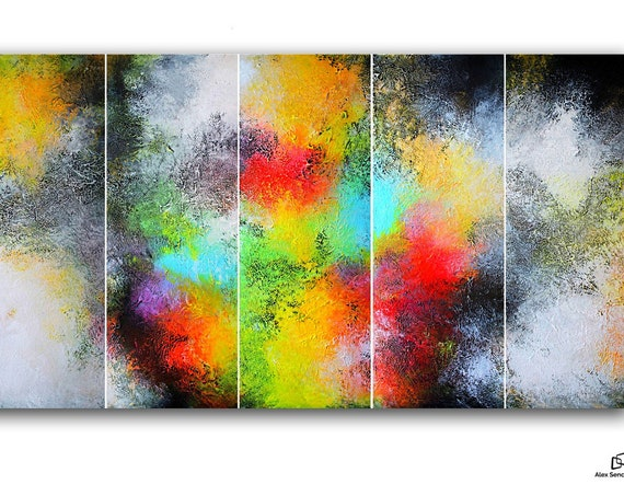 large abstract painting . original abstract art . Contemporary Painting . modern painting . abstract . large modern  art paintings . 5 in 1