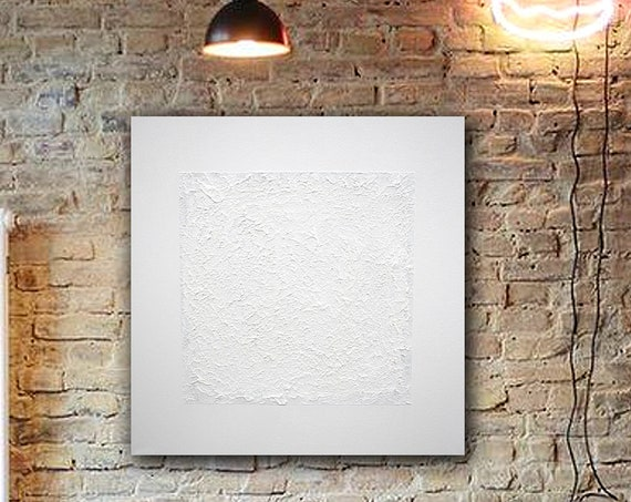White Abstract Wall ART . Painting . Contemporary ART . original painting . abstract painting . minimalism . Modern Wall Art