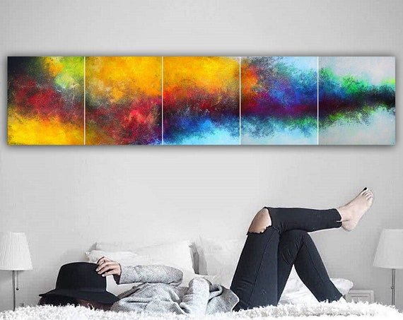 250x60cm. Large abstract painting. Contemporary ART. Modern, original, wall art . abstract painting on canvas. painting for living room. art