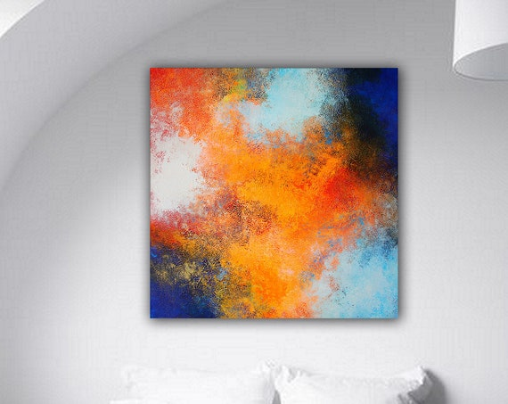 Painting . Abstract Contemporary ART .  Original  abstract painting by Alex Senchenko .Free  Worldwide Shipping .