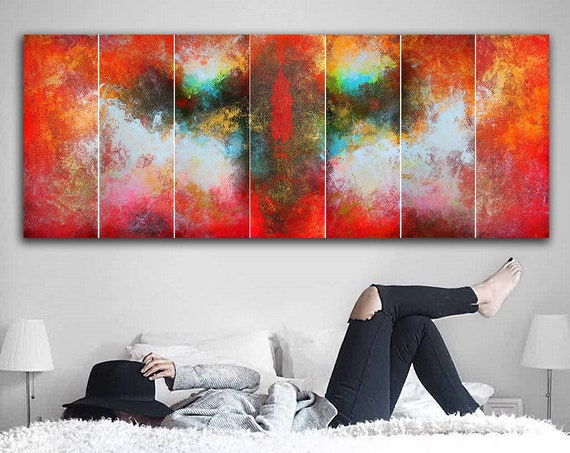 large painting . Abstract painting by Alex Senchenko. 7 in 1 .  Contemporary ART. Modern, original, wall art. large abstract . abstract