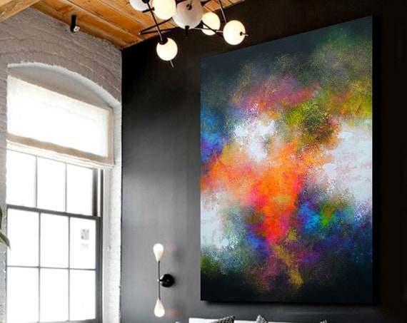 150x100cm. large abstract painting, wall art, original painting, abstract painting, acrylic painting, oil painting. Large painting on canvas