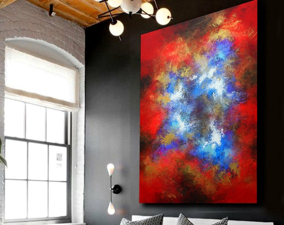 Painting , abstract painting, Acrylic painting, Wall Decor, wall hangings, acrylic. Large painting. Modern abstract canvas painting original