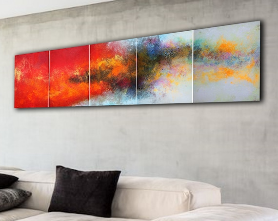 250x60cm. Large abstract painting. Contemporary ART. Modern, original, wall art . abstract painting on canvas. ART painting for living room