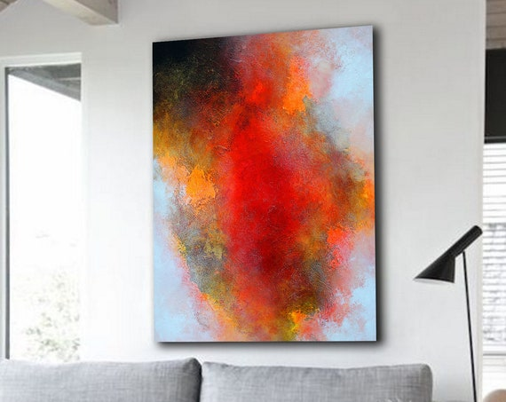 abstract painting  wall art  abstract art  acrylic painting  original painting  large painting  painting  .  Ready to hang .