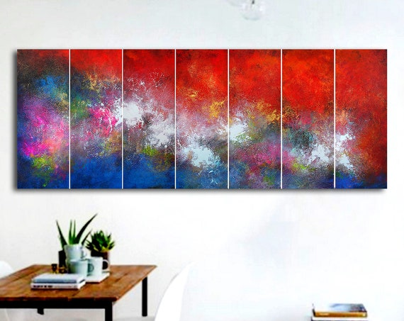 210x80cm / abstract contemporary painting / abstract painting / original painting / large abstract art / abstract contemporary painting