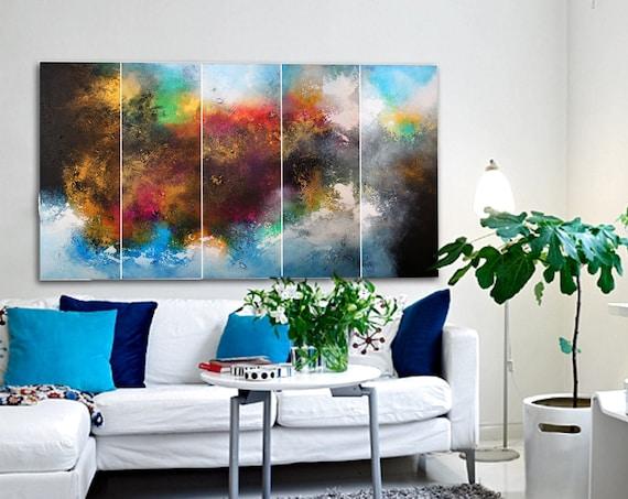 original abstract paintings / wall sculptures / modern original wall art / large abstract landscape painting / contemporary wall art / art