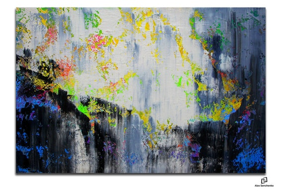 150x100cm. Large multi-colored original abstract painting, Contemporary Art, Large wall Art, decor, large canvas art, abstract painting