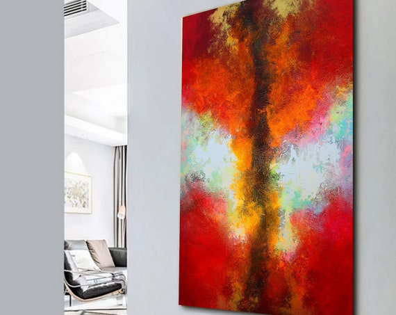 large abstract painting, wall art, original painting, abstract painting, acrylic painting, oil painting. Large painting from Alex Senchenko