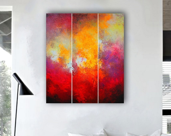 Abstract Triptych. Large Modern Wall Art Painting,Large Abstract wall art,Painting for home,Abstract painting. Original Painting. Modern ART