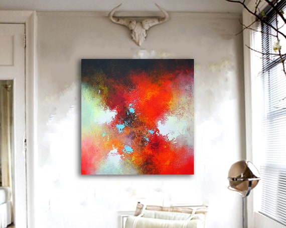 100x100cm. Large Abstract Art, Abstract painting on Canvas , Beautiful Abstract Art, Modern Wall Decor, Large Canvas Art, Original Painting