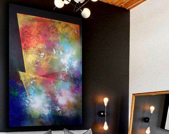 XXLarge  abstract painting by Alex Senchenko. Contemporary ART. Modern, original, wall art.   100% Hand-Made.  #LOOKS AMAZING