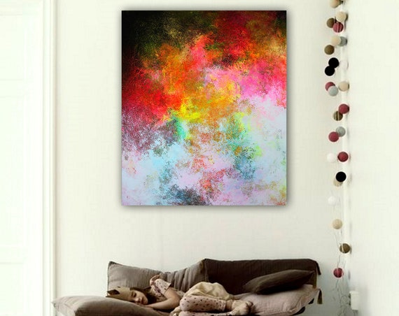 Large Abstract Painting on Canvas,Large Abstract Canvas Art,large abstract art. Contemporary ART. Modern, original, wall ar. Ready to hang .