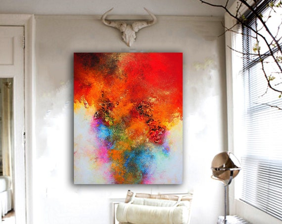 Large Abstract Painting on Canvas,Large Abstract Canvas Art,large abstract art. Contemporary ART. Modern, original, wall ar. Ready to hang