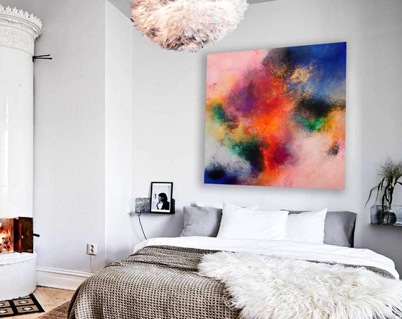 abstract large .  abstract painting by Alex Senchenko . Contemporary ART . Modern , original , canvas , wall art , decor .  Free  Shipping