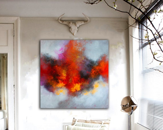 Abstract Painting . Contemporary ART by Alex Senchenko . modern abstract painting . large canvas art . original abstract painting, abstract