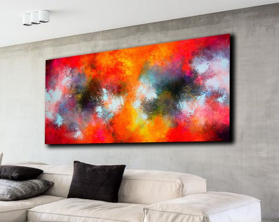 200x100cm. Panoramic painting . Abstract painting by Alex Senchenko. Contemporary ART. Modern, original, wall art. large abstract . abstract