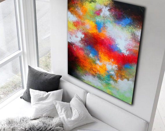 Large Original Abstract Painting On Canvas, Contemporary Wall Art, Extra Large Wall Art,Abstract on Canvas,Original Paintings, Modern Luxury