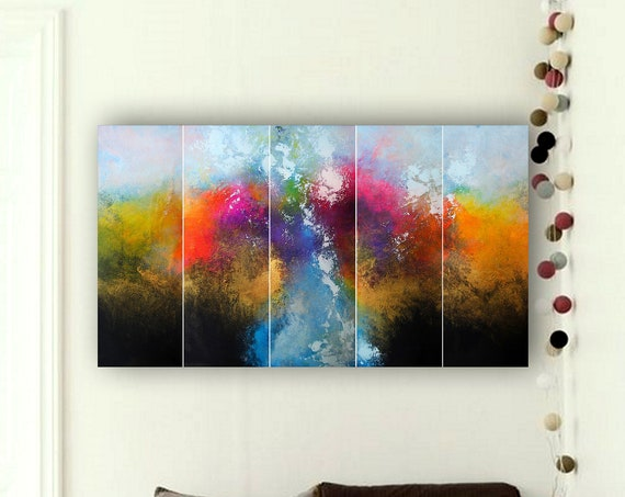 abstract painting . 5 in 1 . Contemporary Painting by Alex Senchenko ©. Modern, original, canvas, wall art. original abstract painting