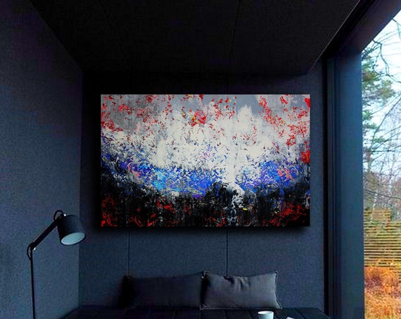 Large abstract painting . Contemporary ART. Modern painting, original art, wall art, Painting on Canvas, modern painting, abstract art