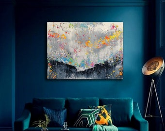 120x100cm. Large abstract painting by Alex Senchenko. Contemporary ART . Modern, original, wall art. large original painting. large abstract