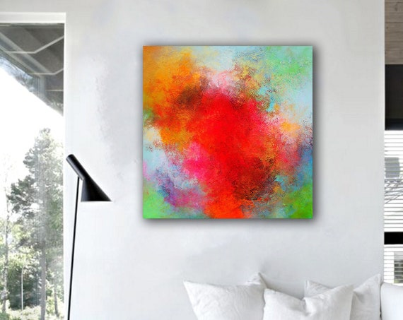 Colourful Original Textured Abstract Painting, Acrylic Painting on Canvas. Oversized Large Wall Art, Modern painting, abstract painting