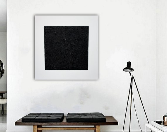 Black square in the style of Wassily Kandinsky. Abstract Painting . Minimalist Art. contemporary art. abstract painting. original painting