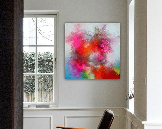 Abstract painting by Alex Senchenko . Contemporary ART . Modern , original , canvas , wall art , decor .  Free  Shipping . Ready to hang .