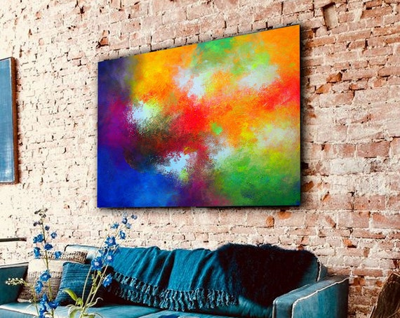 Large Wall Art Original Abstract Painting for Decor Contemporary / pop art / art attack / art deco / artist / artwork / abstract art