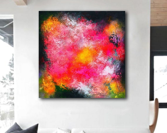 Abstract ART . Extra Large Wall Art on Canvas, Original Abstract Paintings , Contemporary Art, Mdoern Living Room Decor , Office painting
