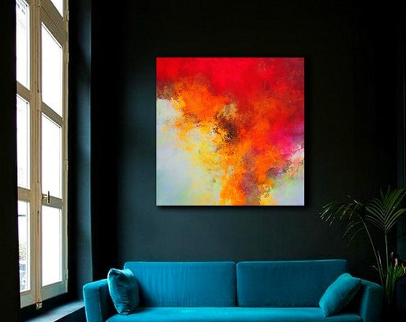Abstract ART . Extra Large Wall Art on Canvas, Original Abstract Paintings , Contemporary Art, Mdoern Living Room Decor , Office art