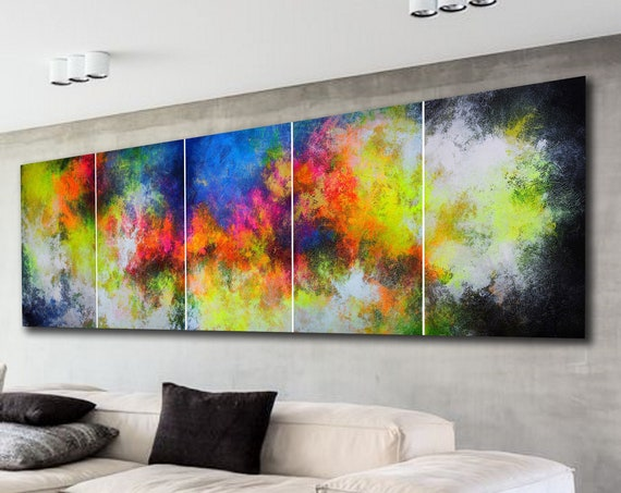 300x90cm. / extra large abstract painting . large abstract . original painting . abstract painting  . abstract wall art  large painting