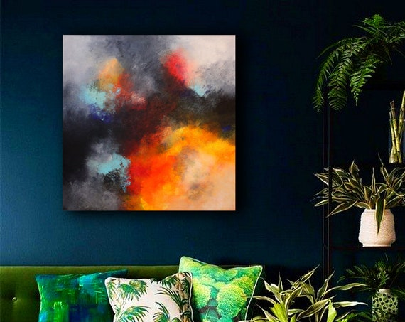 large abstract painting . abstract painting by Alex Senchenko . Abstract ART . large painting . large abstract . wall art . abstract