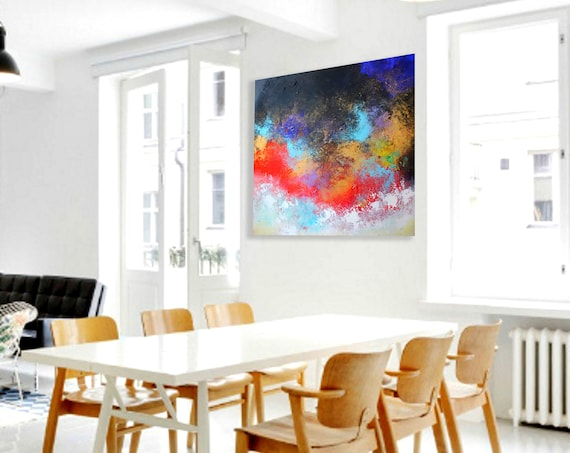 original painting on canvas . Painting . Abstract Painting . Contemporary ART by Alex Senchenko . abstract art . abstract canvas extra large
