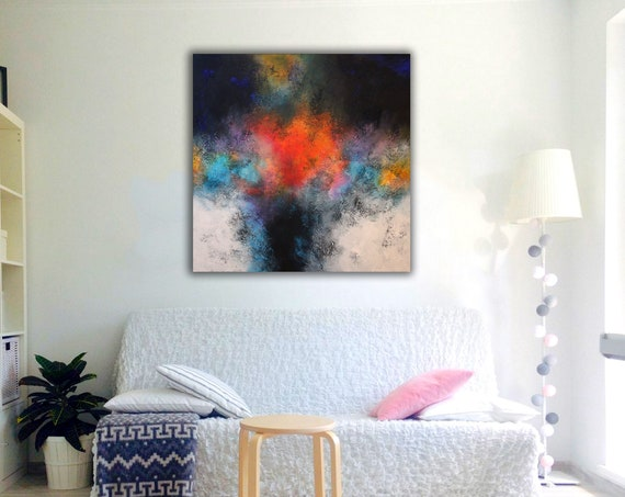large abstract painting by Alex Senchenko . abstract expressionism . abstract landscape . abstract painting . abstract . large abstract