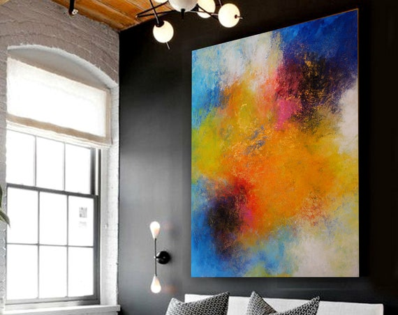 painting, original painting, abstract painting , large abstract painting , wall art , large wall art . Idea for gift