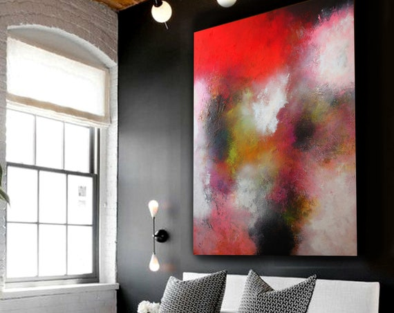 Large abstract painting by Alex Senchenko. original abstract painting  Contemporary ART. Modern, original, wall art . Ready to hang .