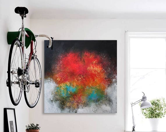 Painting . Abstract Contemporary ART .  Abstract painting by Alex Senchenko . abstract . large canvas . original painting . Ready to hang .