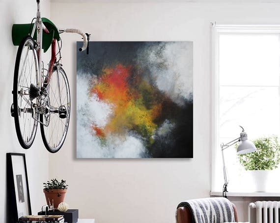 abstract painting on canvas . large painting on canvas  . abstract expressionism . large canvas art . abstract seascape . abstract landscape