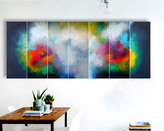 Large abstract painting by Alex Senchenko. original painting. 7 in 1. Contemporary ART. Modern, wall art. 100% Hand-Made. LOOKS STUNNINGLY.