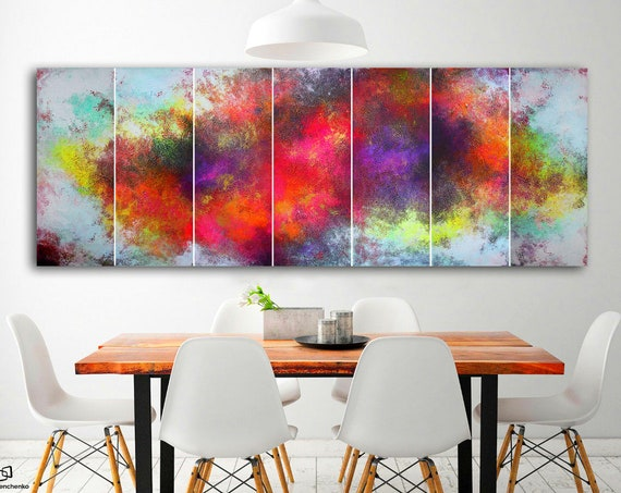 large wall art . Large Abstract Painting by Alex Senchenko.  7 in 1 . abstract landscape . Contemporary ART . large abstract art . abstract